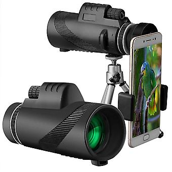 40x60 hd monocular day&night vision dual focus telescope prism scope high power monocular