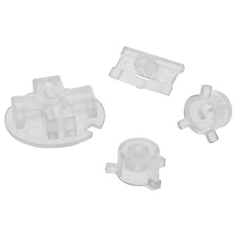 Replacement button set a b d-pad power switch for nintendo game boy pocket - clear