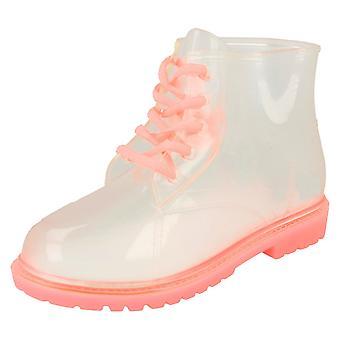 Девочек пятно на зашнуровать ботинок желе