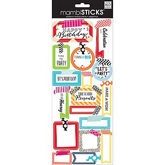 Sayings Stickers Washi Tape Birthday Stp 189