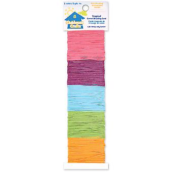 Clubhouse Crafts Cotton Braiding Cord Tropical 5 Colors 5 Yards Each 8900Cb 1 19