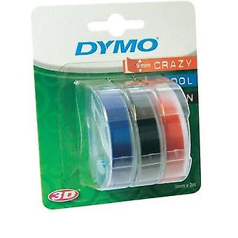 Labelling tape 3-piece set DYMO S0847750 Tape colour: Blue, Black, Red Font colour:White 9 mm 3 m