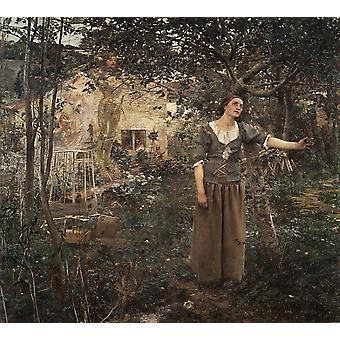 Joan of Arc Poster Print by Jules Bastien-Lepage (8 x 10) (8 x 10)