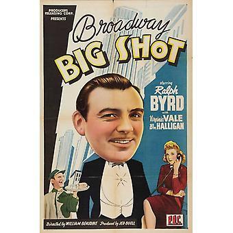 Broadway Big Shot Movie Poster Print (27 x 40)