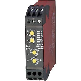 Hiquel ITM 17 Time Delay Relay, Timer, 1 changeover 24 V DC/AC - 115 - 230 Vac