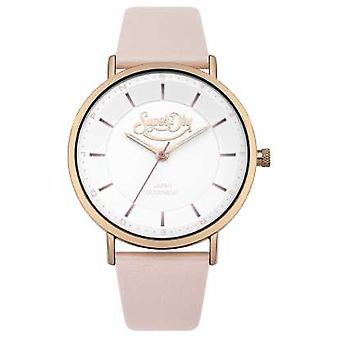 Superdry Womans Oxford Pastel Pop Nude SYL190CRG Watch