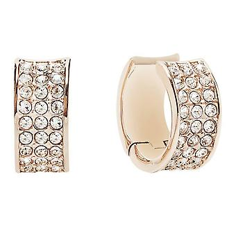 Guess ladies hoops earrings stainless steel Rosé gold UBE21568