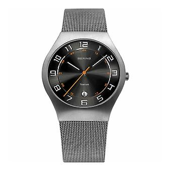 Bering mens watch wristwatch slim classic - 11937-007 Meshband
