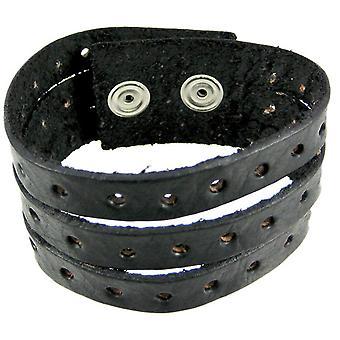 Schwarzes Leder Split Armband Armband Armband