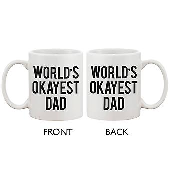 Tata Jasia Okayest ceramiczny kubek kawy dla taty - świat. Najlepszy prezent dzień ojca, dla ojca 11 uncji kubek