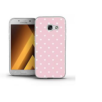 Capa Pink with hearts para Galaxy A5 (2016)