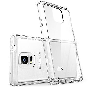 Galaxy Note 4 Case, i-Blason,Halo Series Hybrid Clear Case / Cover with TPU Bumper for Samsung Galaxy Note 4-Clear
