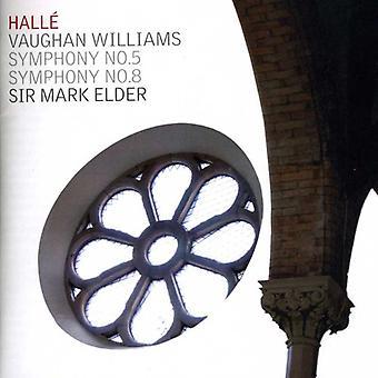 R. Vaughan Williams - Vaughan Williams: symfonier nr. 5 & 8 [CD] USA import