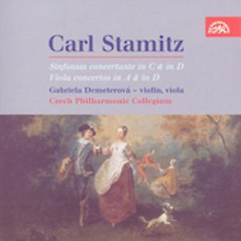 C. Stamitz - Carl Stamitz: Sinfonias Concertante in C & in D; Viola Concertos in a & in D [CD] USA import