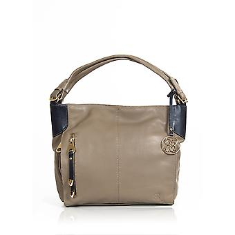 Cartmel Two Tone Shoulder Bag in Taupe