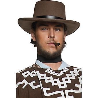 Gunslinger cowboy hat cowboy Wild West Western men's hat Brown