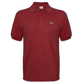 Lacoste Lacoste Mens Classic Bordeaux Red Polo Shirt
