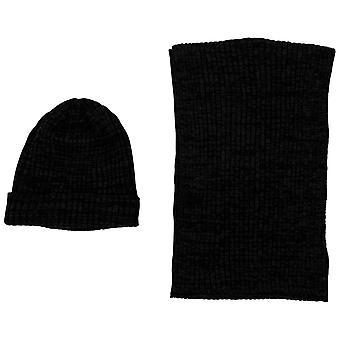 Urban classics - BASIC SET berretto e sciarpa del carbone di legna