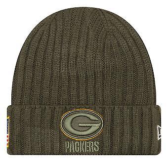 Nowa era salute do obsługi Zimowa Czapka - Green Bay Packers