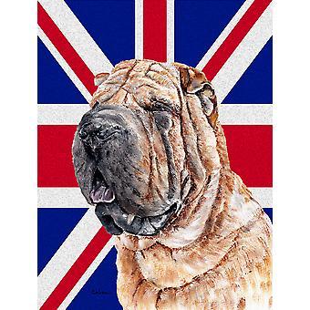 Щенки шар-пея с английского союза Джек британский флаг флаг сад размер