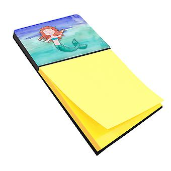 Carolines Treasures  BB7421SN Ginger Mermaid Watercolor Sticky Note Holder