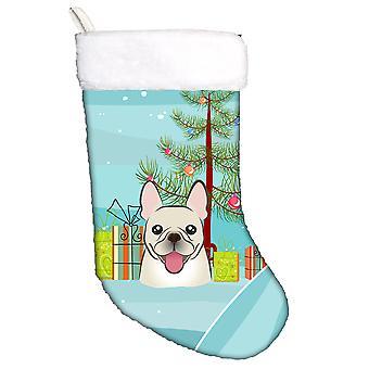 Christmas Tree and French Bulldog Christmas Stocking