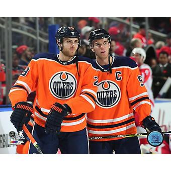 Leon Draisaitl & Connor McDavid 2017-18 Photo Print