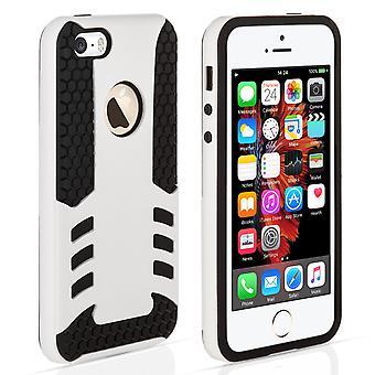 iPhone 5 og 5s / SE grænsen Combo sag - hvid