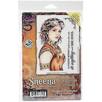 Sheena Douglass Perfect Partners Time Traveller Stamps-Steampunk Woman SD-PPS-SWOM