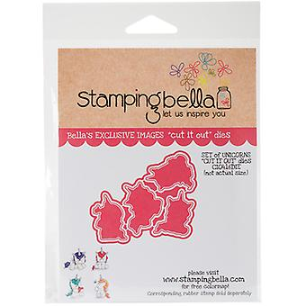 Stamping Bella Fairy Tale Cut It Out Dies-Set Of Unicorns CIO416