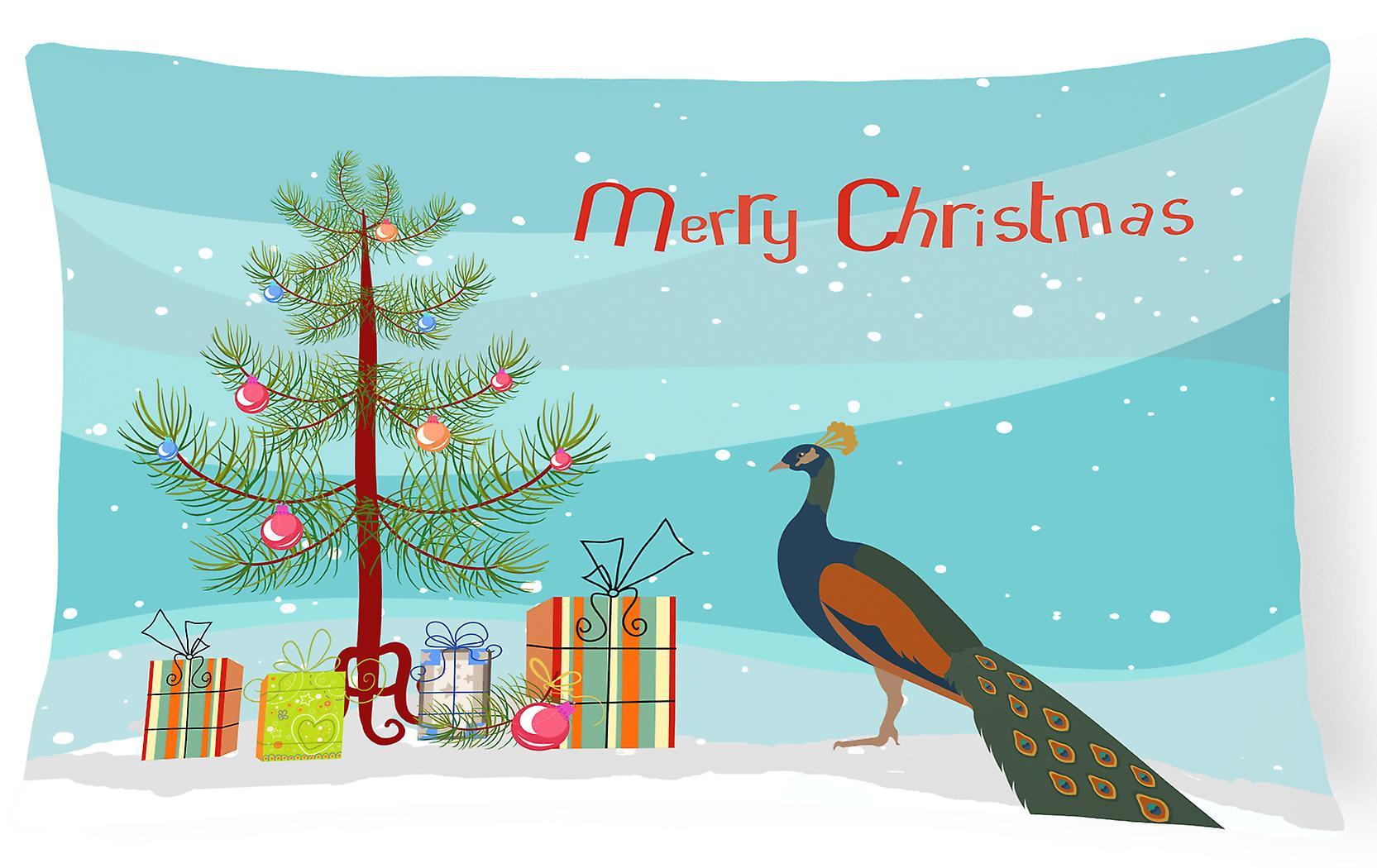Canvas Fabric Peafowl Decorative Christmas Pillow Indian Peacock 5jL4AR