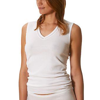 Mey 2000 White Cotton Sleeveless Top 26307