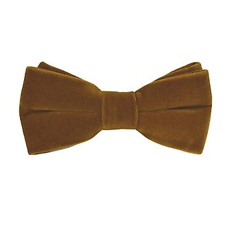 Luxury Cider Brown Velvet Bow Tie