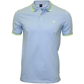 Replay Colour Contrast Polo Shirt, Light Azure