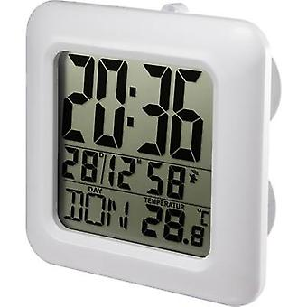 Renkforce E0006R Radio Wall clock 168 mm x 168 mm x 60 mm White Suitable for bathrooms/wet rooms