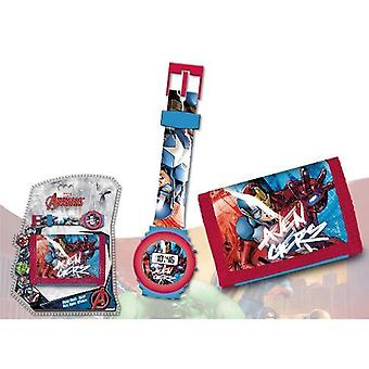 Avengers wristwatch and wallet