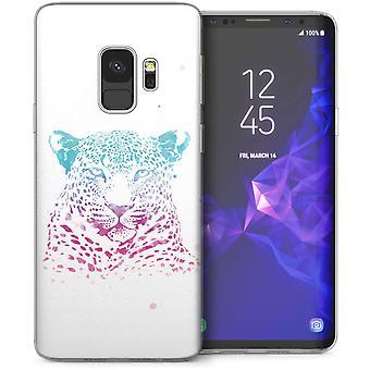 Samsung Galaxy S9 Leopard Print plons TPU Gel geval – wit