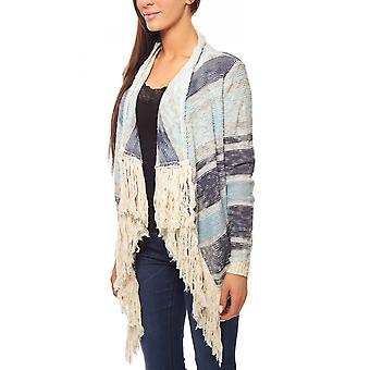 Fringe Cardigan in coarse knit quality light blue B.C.. best connections