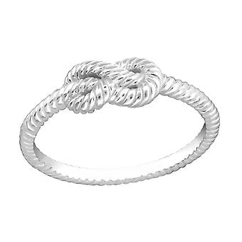 Knot - 925 Sterling Silver Plain Rings - W33829X