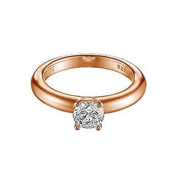 ESPRIT women's ring silver Rosé cubic zirconia grace ESRG91608C1