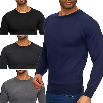 Mens fine knit sweater long sleeve sweater long sleeve round neck Cardigan O-neck