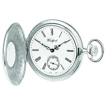 Woodford Sterling Silver Open Case White Dial Mechanical Pocket 1068 Watch