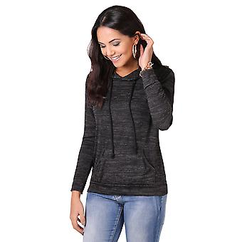 KRISP PU Trim Pocket Knitted Hoodie