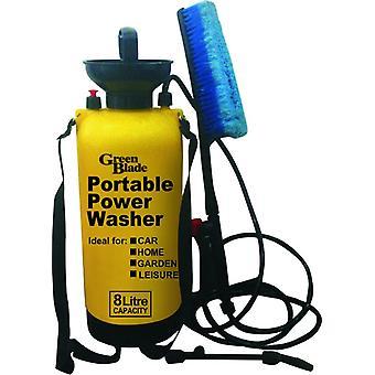 8 Litre Portable Power Washer for Car Home Garden Leisure