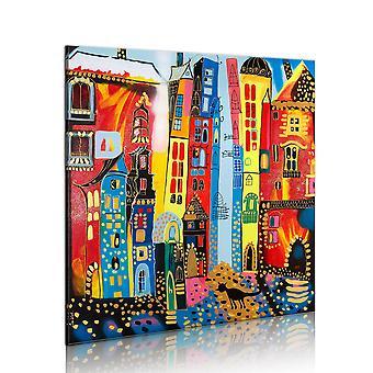 Handgemaakte schilderij - Magic straat