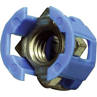 PB Fastener 382-2005 Cage Lok Cage Nut Blue (Ø x H) 12.3 mm x 12.8 mm