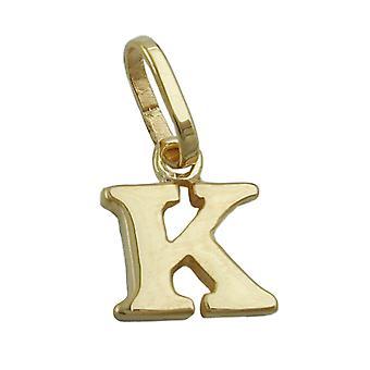 kleiner und zarter Buchstabenanhänger gold 375 Anhänger, Buchstabe K, 9 Kt GOLD