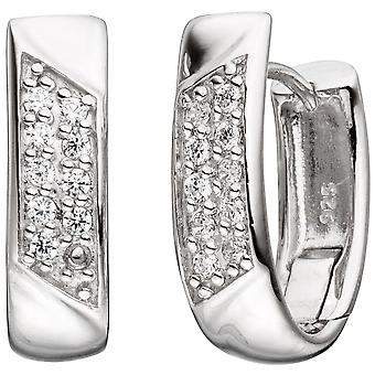 Earring hoop earrings 925 sterling silver with cubic zirconia Silver earrings kitchen