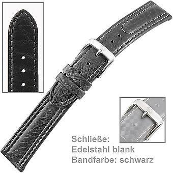 腕時計バンド時計ストラップ メンズ革黒米国ブレスレット男性 2 2 mm
