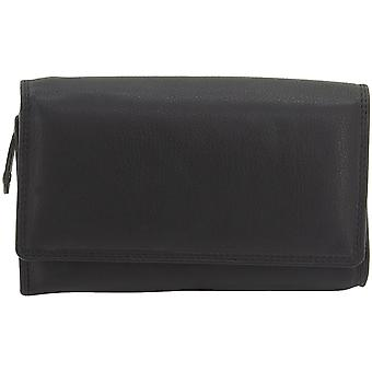 Friedrich leather purse LADIES LINE nappa leather black RFID protection